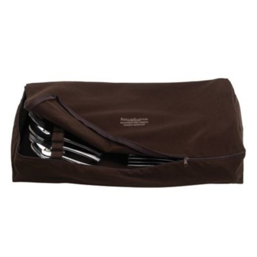 Reed & Barton Zippered Flatware Drawer Liner in Brown