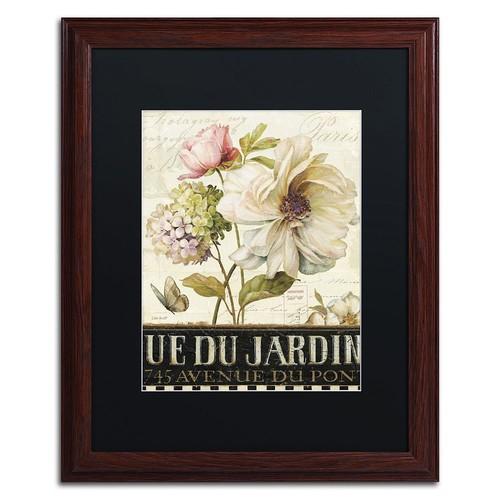 Trademark Fine Art Marche de Fleurs II Wood Finish Framed Wall Art