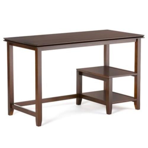 Simpli Home Artisan 50-Inch Desk in Auburn Brown