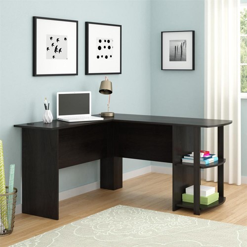 Ameriwood Home Quincy Espresso L-Shaped Desk