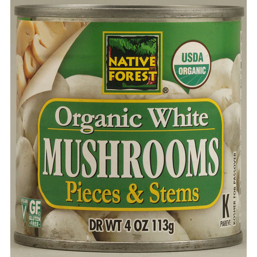 Native Forest Organic White Mushrooms Pieces & Stems -- 4 oz
