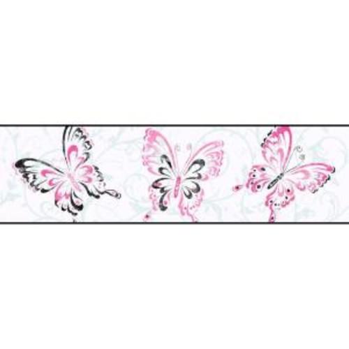 York Wallcoverings Candice Olson Kids Butterfly Scroll Wallpaper Border