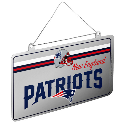 NFL New England Patriots License Plate Ornament