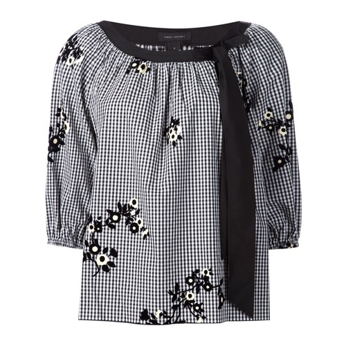 MARC JACOBS Floral Gingham Blouse