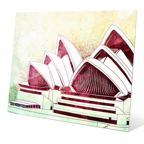 'Sydney Opera House Green' Wall Graphic on Acrylic