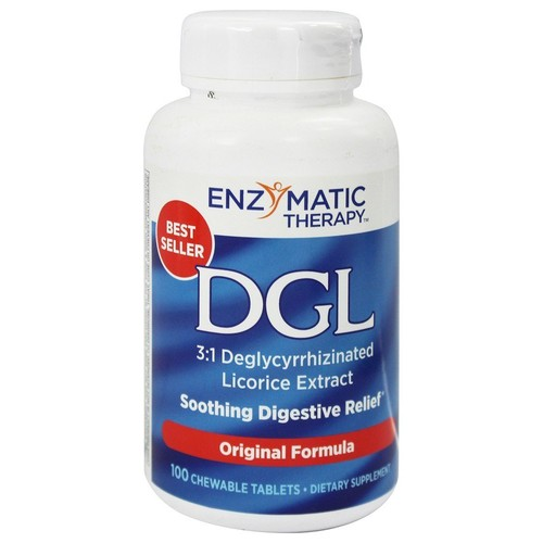 DGL Deglycyrrhizinated Licorice Extract for Soothing Digestive Relief Licorice - 100 Chewable Tablets