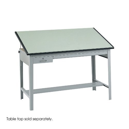 Safco Products 3962GR Precision Drafting Table Base for use with 3952, 3953 Table Top, sold separately, Gray [35 1/2