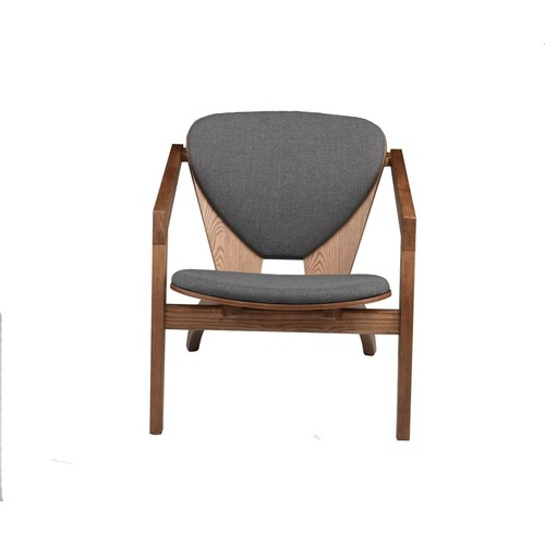 Freya Occasional Chair in Various Colors design by Nuevo - grey fabric