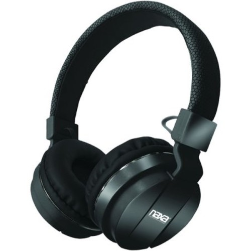 Naxa Bluetooth Wireless Stereo Headphones with Microphone - Black