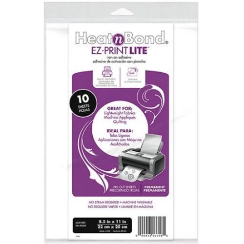Heat'n Bond EZ, Print Lite Iron-On Adhesive 8, 1/2