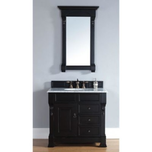 James Martin Furniture Brookfield Single Vanity without Countertop in Antique Black