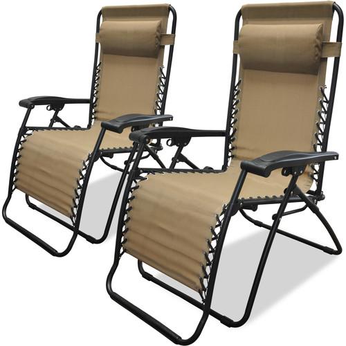 Caravan Sports Infinity Zero Gravity Chair, 2pk, Beige