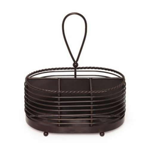 Gourmet Basics by Mikasa Wire Rope Napkin and Flatware Caddy in Black