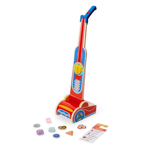 Melissa & Doug 10-Piece Wooden Vacuum Cleaner Play Set