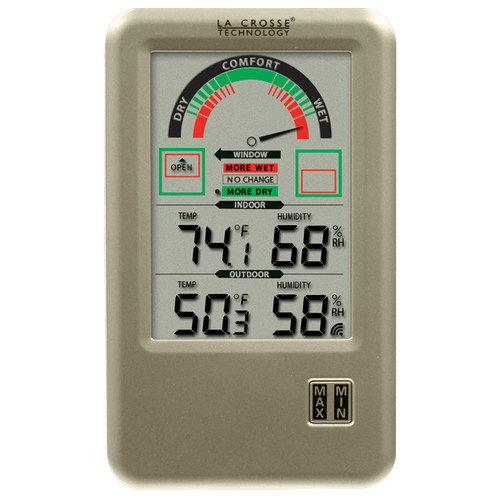 La Crosse Technology Comfort Meter with In/Out Temperature & Humidity