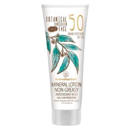 Australian Gold Botanical Mineral Sunscreen Tinted Face Sunscreen Lotion - SPF50 - 3oz