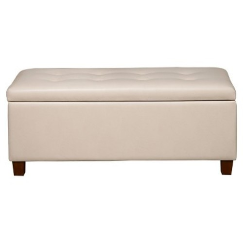 Homepop Large Faux Leather Storage Bench - HomePop
