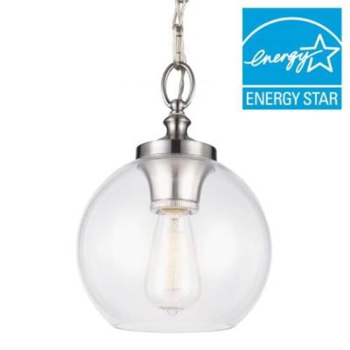 Feiss Tabby 1-Light Brushed Steel Mini Pendant