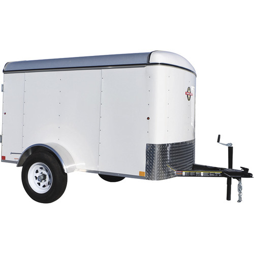Carry-On Trailers 5ft. x 8ft. Enclosed Cargo Trailer  2400-Lb. GVWR, 1510-Lb. Load Capacity, White, Model# 5X8CGEC16