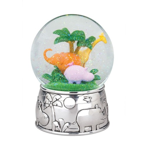 Reed & Barton Jungle Parade Multicolor Metal and Glass Waterglobe