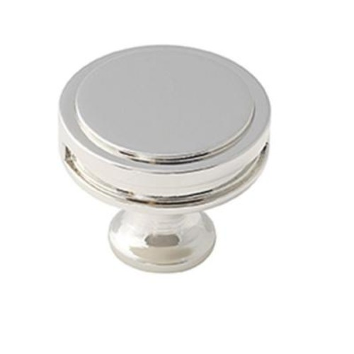 Amerock Oberon 1-3/8 in. (35 mm) Polished Nickel Cabinet Knob