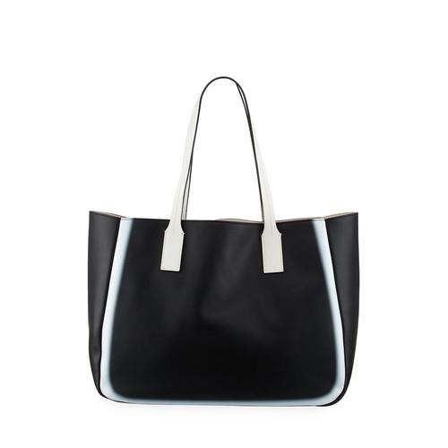 DEREK LAM 10 CROSBY Bond East West Tote Bag, Black/White