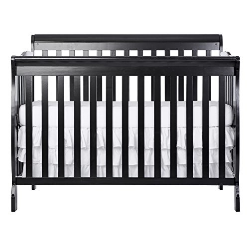Dream On Me Ashton 5 in 1 Convertible Crib, Black [Black]