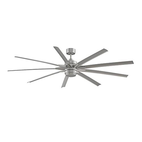 Fanimation Odyn 84-Inch Single-Light Ceiling Fan in Brushed Nickel with Brushes Nickel Blades