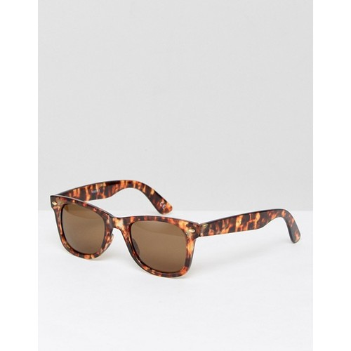ASOS Square Sunglasses In Tort With Brown Lens