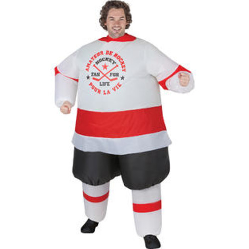 Morris Costumes Inflatable Hockey Player Adult
