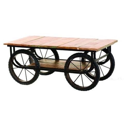 Yosemite Home Decor Coffee Table with Wheels
