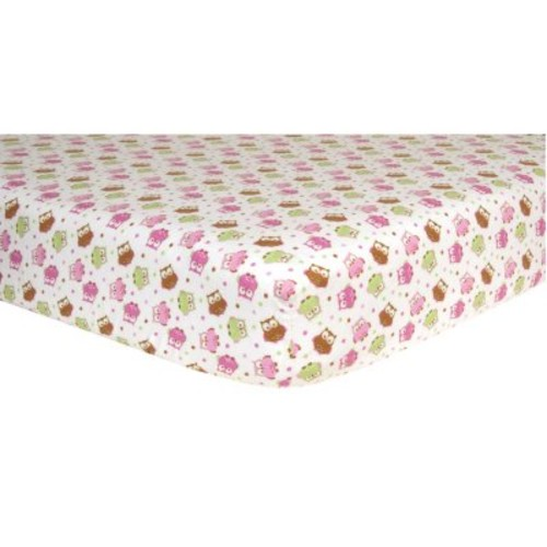 Trend Lab Flannel Fitted Crib Sheet, Owls