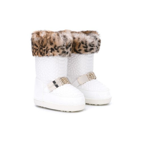 ROBERTO CAVALLI KIDS Perforated Snow Boots