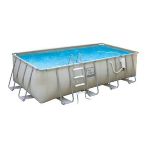 Summer Waves Elite 9 ft. x 18 ft. Rectangular 52 in. Deep Metal Frame Swimming Above Ground Pool