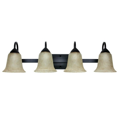 Feit Electric 4-Light 26-Watt Warm White (3000K) Oil-Rubbed Bronze Integrated LED Bath Vanity Light Fixture