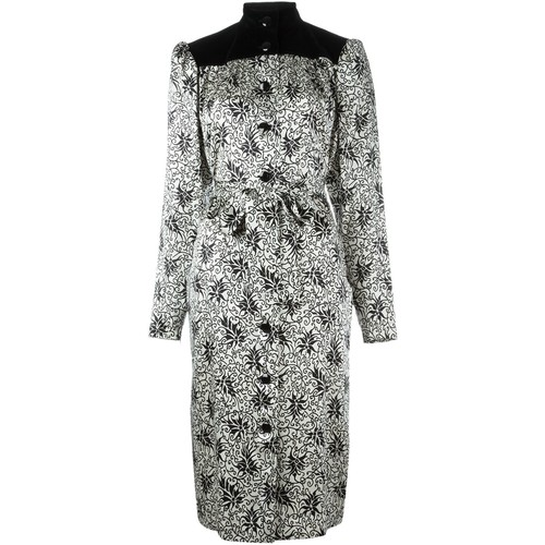 YVES SAINT LAURENT VINTAGE Printed Shirt Dress