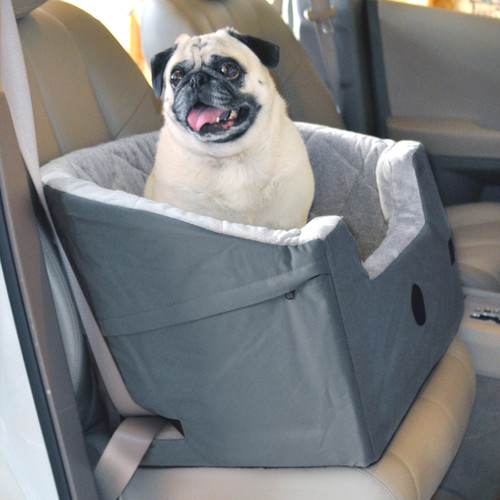 K&H Manufacturing Bucket Booster Pet Seat [Gray, Standard Packaging, Small]