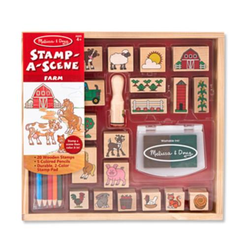 Melissa & Doug Baby Zoo and Farm Animals 6 Color Stamp Pad Set
