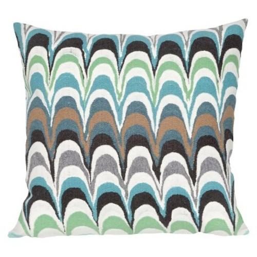 Floating Ink Indoor/Outdoor Throw Pillow - Liora Manne