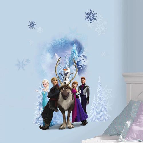 Disney Frozen Character Winter Burst Peel and Stick Giant Wall Decals