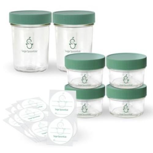 Sage Spoonfuls Make In Bulk Glass Storage Set