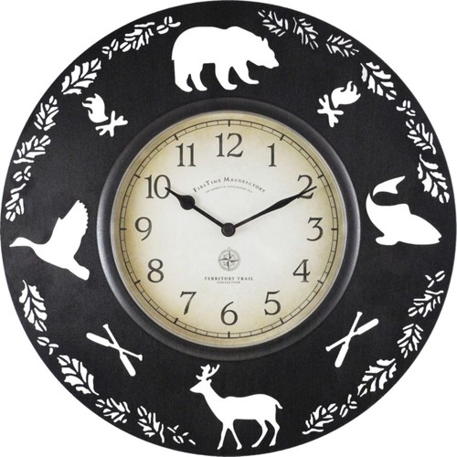 FirsTime Lodge Round Wall Clock, 11