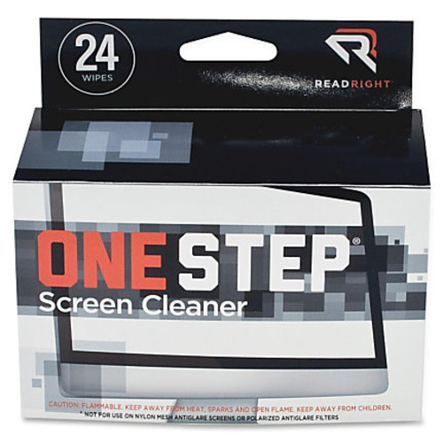 Read Right One Step CRT Screen Cleaning Wipes - 24 / Box