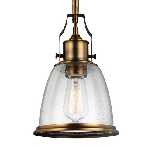 Feiss Mini 1-light Aged Brass Pendant