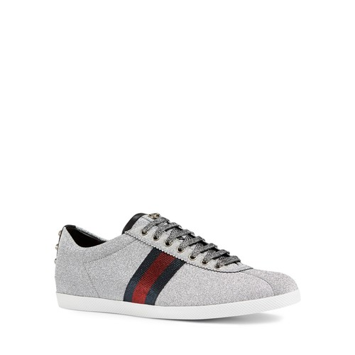 GUCCI Bambi Web Metallic Sneakers