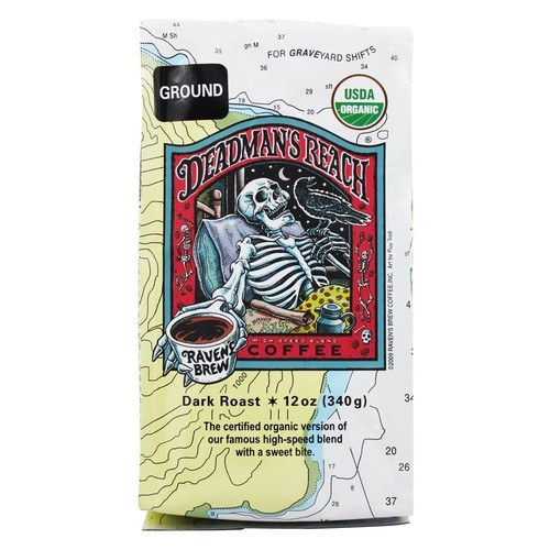 Raven's Brew Coffee - Deadman's Reach Organic Ground Coffee - 12 oz.