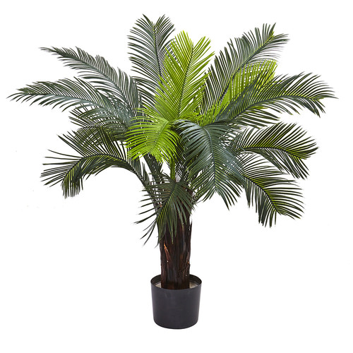 Nearly Natural 3 Cycas Tree UV Resistant (Indoor/Outdoor) Silk Plant