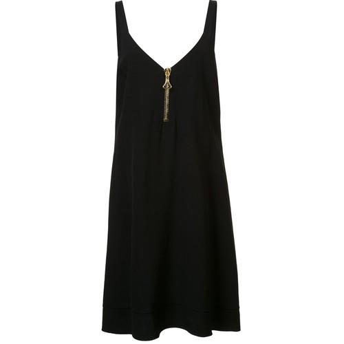 ELLERY Gold-Tone Neck Zipper Dress
