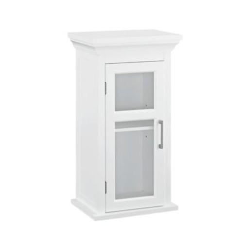 Simpli Home Avington 10-Inch Single Door Wall Cabinet in White