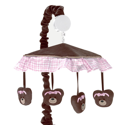 Sweet Jojo Designs Pink Teddy Bear Collection Musical Mobile